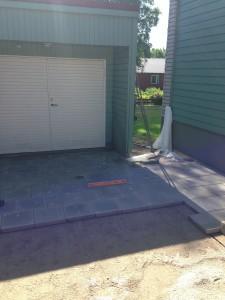 markarbete vid garage